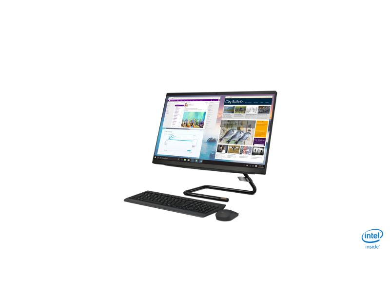 "Lenovo IdeaCentre AIO340-24ICK (i5-9400T, 8GB RAM, 512 SSD, 2GB Radeon 530, 23.8"" FHD Touch Screen) F0ER00CKAX - White"