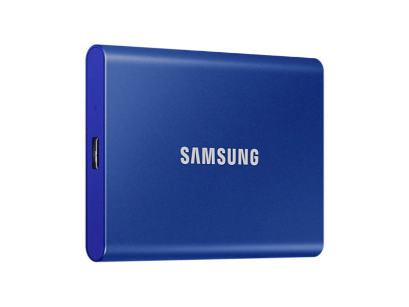 Samsung T7 Portable SSD -1TB -USB 3.2 Gen.2 External Indigo Blue-MU-PC1T0H/WW