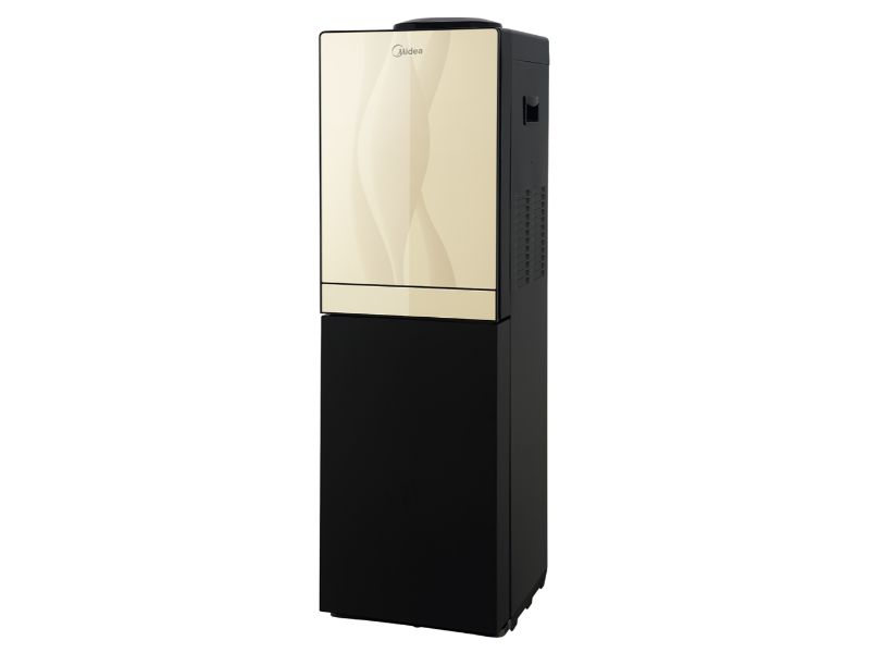 Midea Free Standing Top Loading Water Dispenser with fridge, Gold & Black Color - YL-1836S-B(G & B)