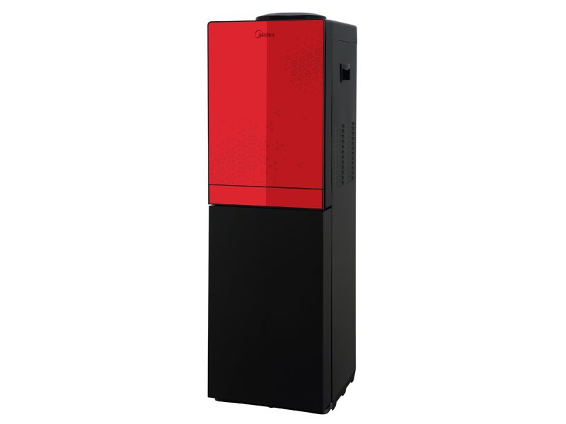 Midea Free Standing Top Loading Water Dispenser with fridge, Red & Black Color - YL1836S-B(R & B)