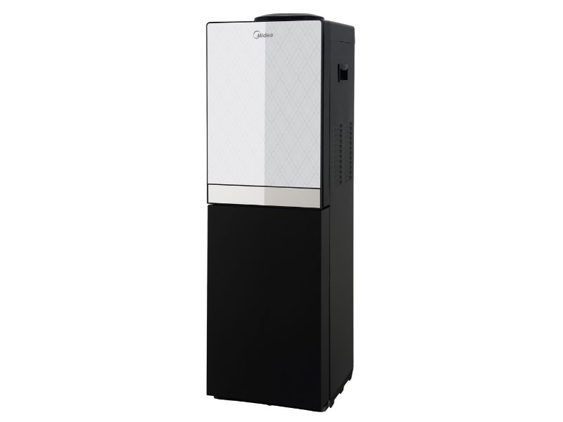 Midea Free Standing Top Loading Water Dispenser with fridge, Silver & Black Color - YL1836S-B(S &B)