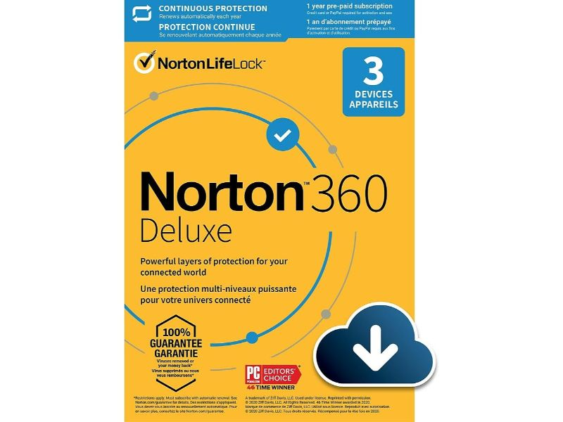 Norton 360 Deluxe 25 GB - 3 Device AR-21405146
