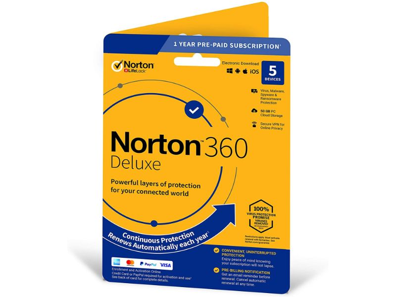 Norton 360 Deluxe 50 GB - 5 Device AR-21405129