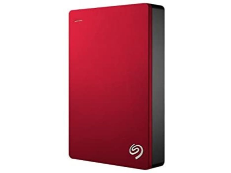 Seagate Backup Plus Portable 4TB External Hard Drive HDD – USB 3.0-STDR4000902-Red