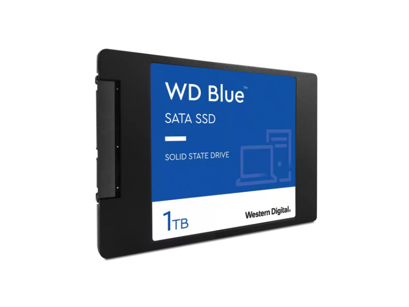 "Western Digital 1TB WD Blue 3D NAND Internal PC SSD - SATA 2.5""/7mm, Up to 530 MB/s - WDS100T2B0A"