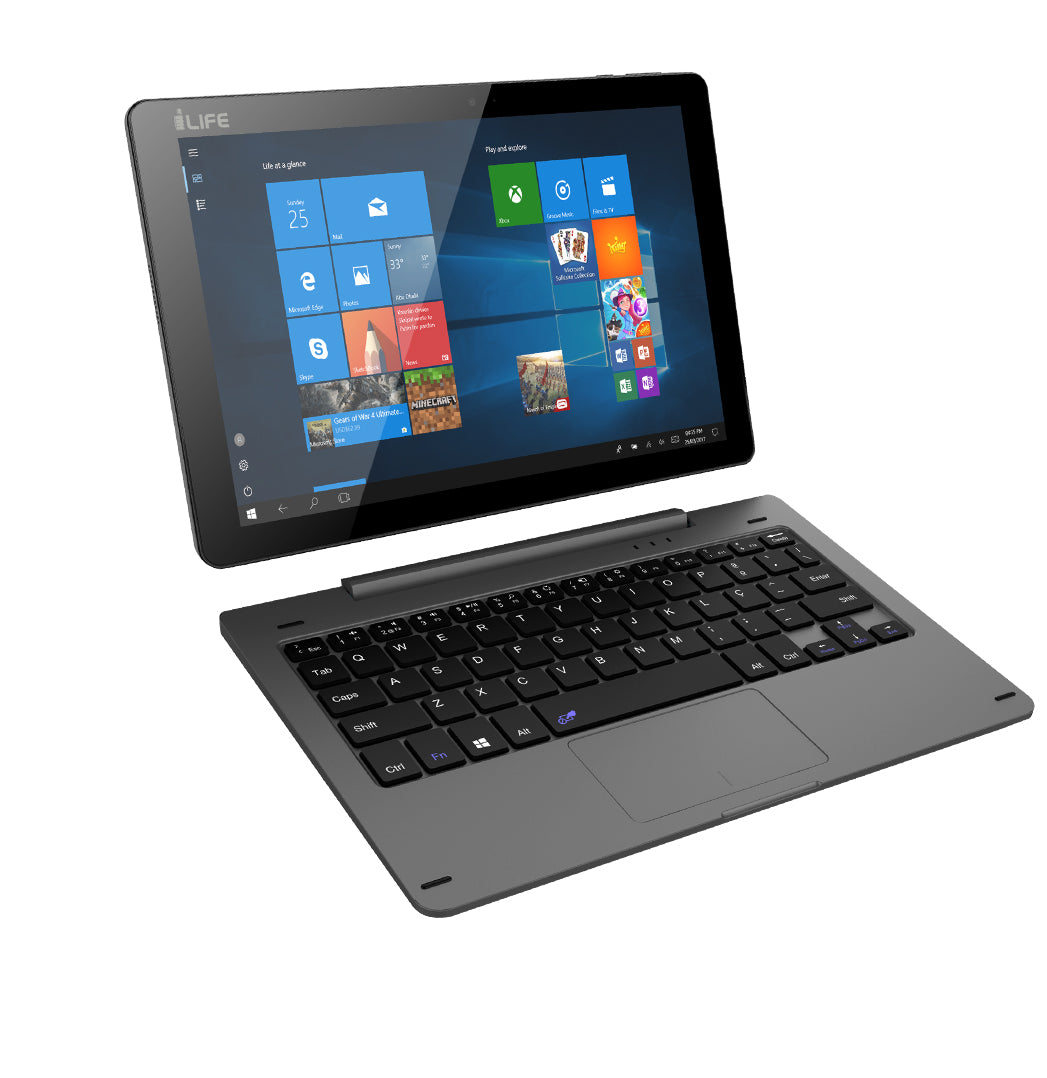 i-Life 2 in1 ZedBook 10.1 inch Intel Atom Quad Core Processor 2GB RAM 32GB Memory""