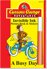 Invisible Ink with Stickers: Curious George™ - A Busy Day