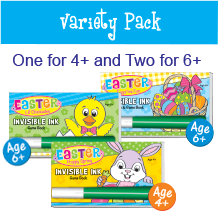 Invisible Ink Easter: Variety Pack (3 Books)