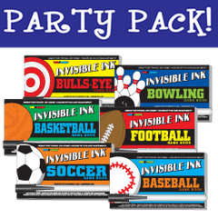 Invisible Ink: Yes & Know® Game Book - Sports Party Pack