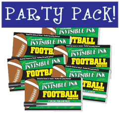 Invisible Ink: Yes & Know® Game Book - Football Party Pack