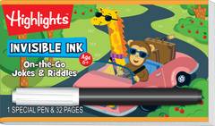 Invisible Ink: Highlights™ Game Book - On-the-Go Jokes & Riddles