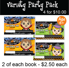 Halloween: Party Pack (4 Books) ...Ages 6+