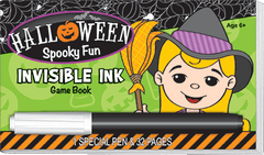 Invisible Ink: Halloween Game Book - Spooky Fun