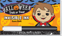 Invisible Ink: Halloween Game Book - Trick or Treat