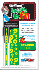 "Invisible Ink: Know Now® Book ""Reading Fun"""