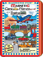 Magnetic Fun<small><sup>®</sup></small> Tin: Cars, Planes and Trains