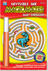 Invisible Ink: Magic Mazes - Baby Dinosaurs