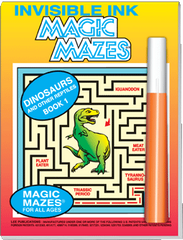"Invisible Ink: Maze ""Dinosaurs"""