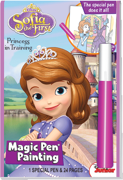 magic pen painting disney jr sofia the first princess in training - Magic Ink Coloring Books