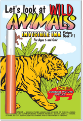 Invisible Ink with Stickers: Wild Animals Book 1