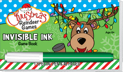 Invisible Ink: Christmas Game Book - Reindeer Games