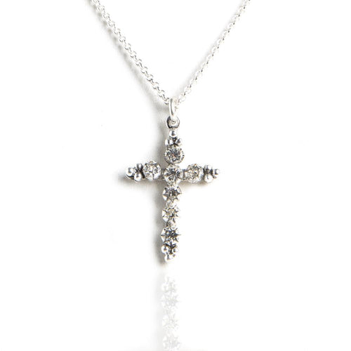 Silver Madonna Charm Necklace