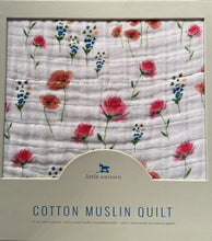 Load image into Gallery viewer, Little Unicorn Cotton Muslin Quilt