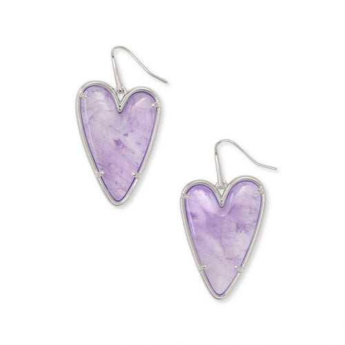 Kendra Scott Ansley Heart Drop Earrings