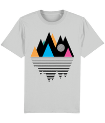 100% Eco Organic T-shirt - Mountain Geometry Design