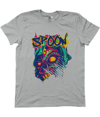 Kuzi Tees Urban Graffiti Spoon Skull Grey