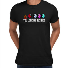 AMONG US T-SHIRT - IMPOSTOR GAMING RETRO FUNNY COOL GIFT CHRISTMAS CREW MATE SUS Black Unisex T-Shirt