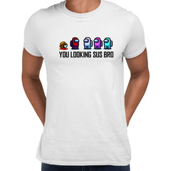 AMONG US T-SHIRT - IMPOSTOR GAMING RETRO FUNNY COOL GIFT CHRISTMAS CREW MATE SUS White Unisex T-Shirt