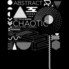100% Eco T-shirt - Abstract Art With Modern Geometric Composition