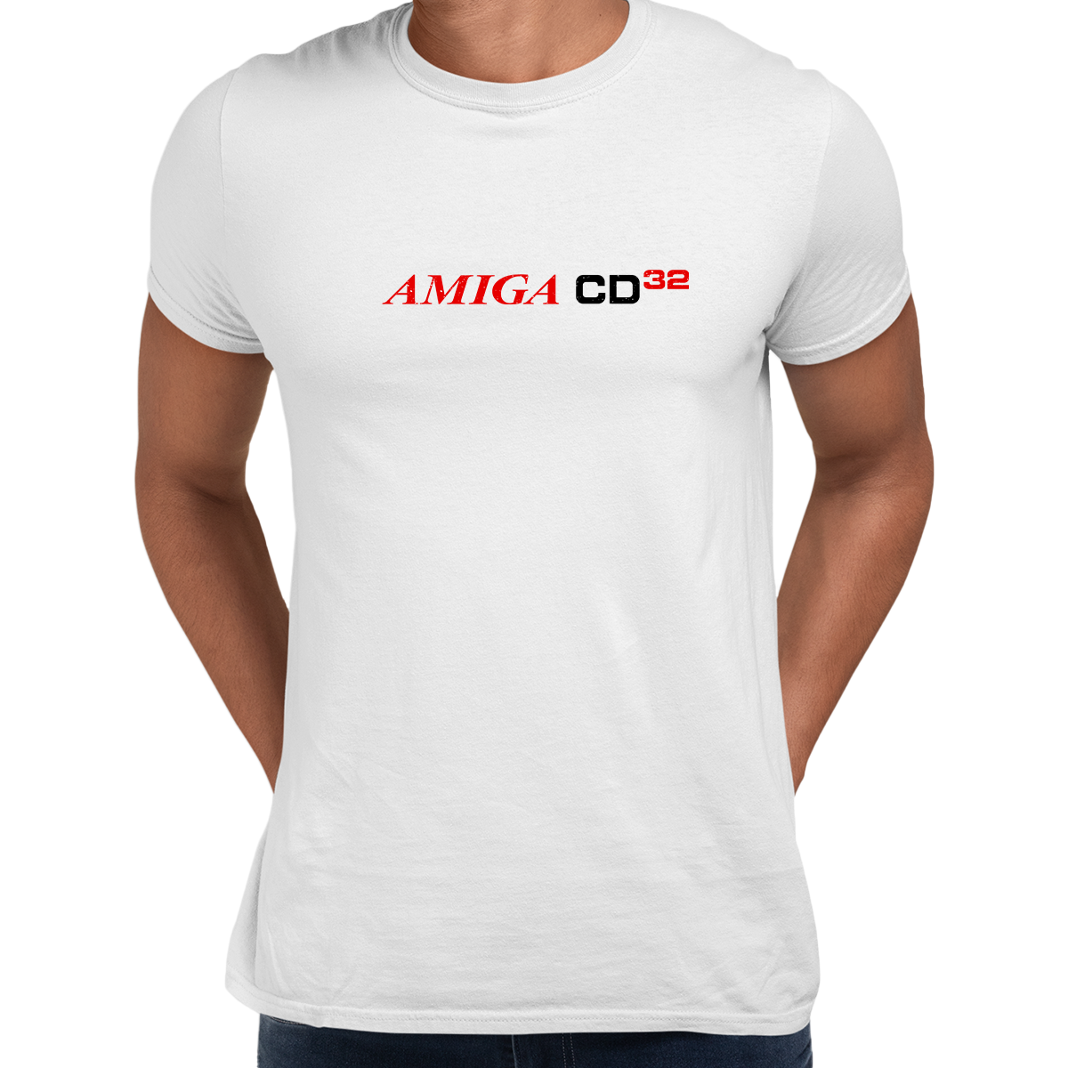 Amiga CD 32 Retro Game Console Arcade White Unisex T-Shirts OLD SKOOL Free Delivery