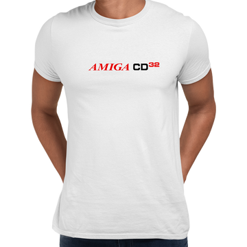 Amiga CD 32 Retro Game Console Arcade Black Unisex T-Shirts OLD SKOOL Free Delivery