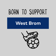 Women Born to Support For West Brom Football Club Ladies Eco Crew Neck White T-Shirt