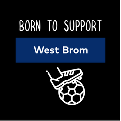Women Born to Support For West Brom Football Club Ladies Eco Crew Neck Black T-Shirt