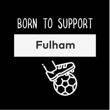 Women Born to Support For Fulham Football Club Ladies Eco Crew Neck White T-Shirt