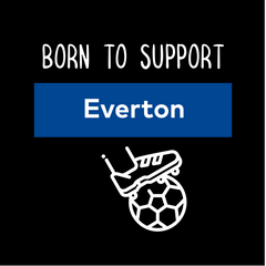 Women Born to Support For Everton Football Club Ladies Eco Crew Neck Black T-Shirt