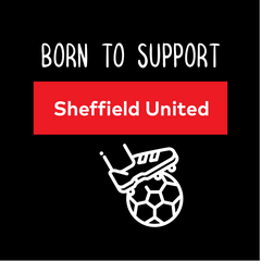 Women Born to Support For Sheffield United Football Club Ladies Eco Crew Neck Black T-Shirt