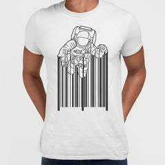 Astronaut with barcode white T-Shirt