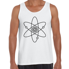 Atomic Symbol Tank Top Physics Album Geek Nerd Science White