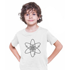 Atomic Symbol Children Kids T-Shirt Physics Album Geek Nerd Science White