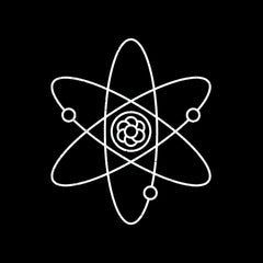 Atomic Symbol Children Kids T-Shirt Physics Album Geek Nerd Science Black