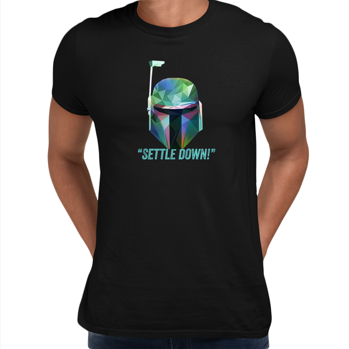 Boba Fett Settle Down Famous Star Wars character quote Unisex Male Black T-shirt
