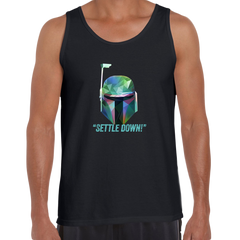 Boba Fett Settle Down Famous Star Wars character quote Unisex Movie Black Tank Top