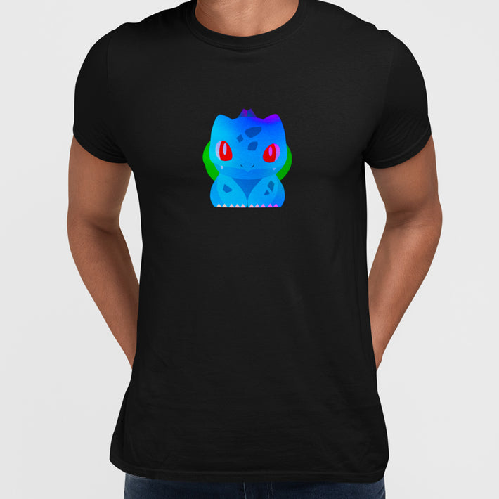 Bulbasaur Dual-Type Grass Poison Pokémon Go Crew Neck Black Tee