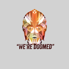 CP3O We are Doomed Famous Star Wars character quote Women Movie Tee
