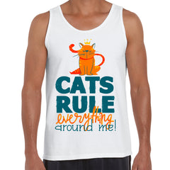 Cats Rule Everything Around Me Tank Top