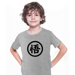 Goku Kanji Dragonball Z Kakarot Sign Grey T-shirt for Kids